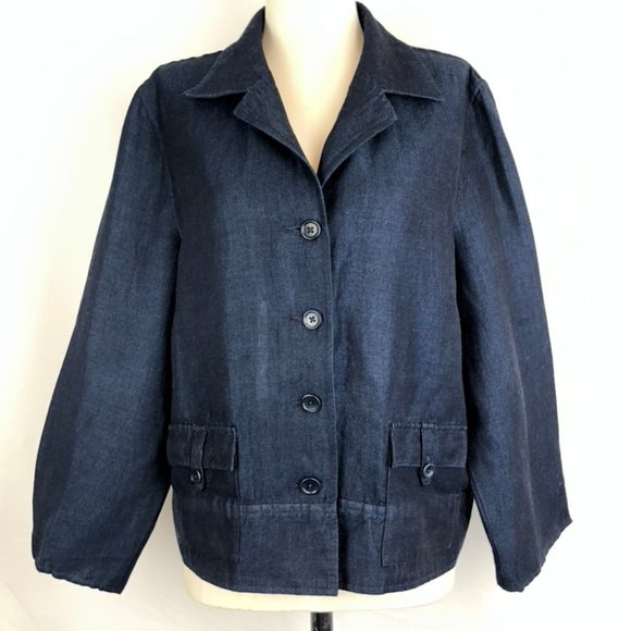 Casual Linen/Rayon Jacket from Talbots